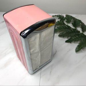 1996 Homer Laughlin retro pink napkin dispenser